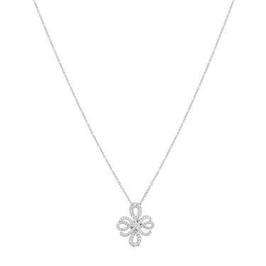 Argento Silver Crystal Arabesque Necklace  - Click to view larger image