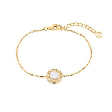 Argento Gold Crystal Halo Bracelet  - Click to view larger image