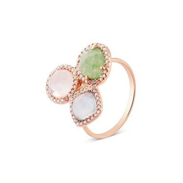 Argento Rose Gold Multi-colour Radiance Ring  - Click to view larger image