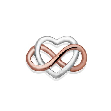 Storie Mixed Metal Infinite Heart Charm   - Click to view larger image