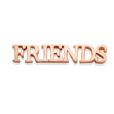 Storie Rose Gold Friends Charm   - Click to view larger image