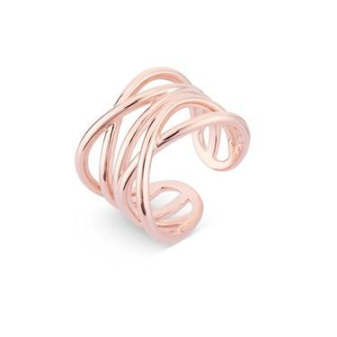 August Woods Rose Gold Chunky Ring  - Click to view larger image