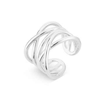 August Woods Silver Chunky Ring  - Click to view larger image