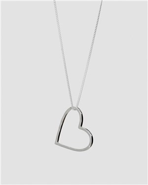 Tutti & Co Silver Inspire Heart Necklace  - Click to view larger image