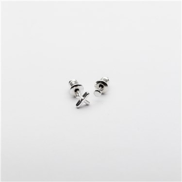 aa8e35eb5774ce Tutti & Co Silver Asymmetric Stud Earrings - Click to view larger image