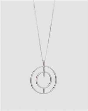 Tutti & Co Silver Crescent Necklace  - Click to view larger image