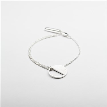Tutti & Co Silver Eclipse Bracelet  - Click to view larger image