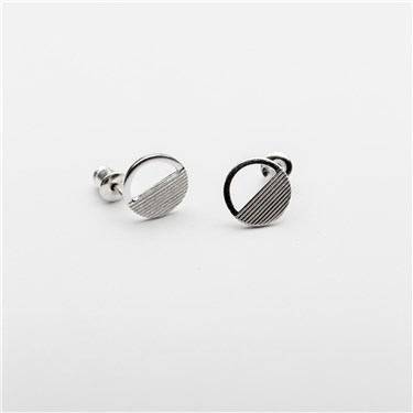 Tutti & Co Silver Eclipse Earrings  - Click to view larger image