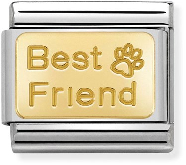 Nomination Gold Best Friend Paw Charm  - Click to view larger image
