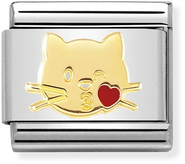 Nomination Kissing Cat Charm   - Click to view larger image