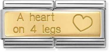 Nomination A Heart On 4 Legs Double Charm   - Click to view larger image