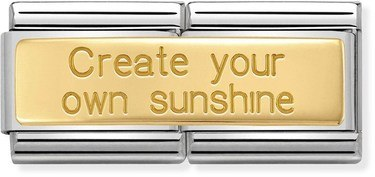 Nomination Create Your Own Sunshine Double Charm   - Click to view larger image