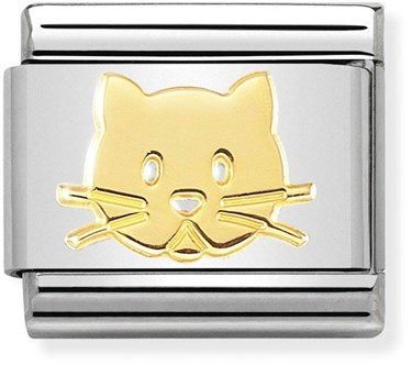 Nomination Gold Cat Charm  - Click to view larger image