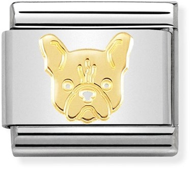 Nomination Gold French Bulldog Charm  - Click to view larger image