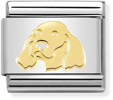Nomination Gold Irish Setter Dog Charm  - Click to view larger image