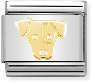 Nomination Gold Jack Russell Dog Charm  - Click to view larger image