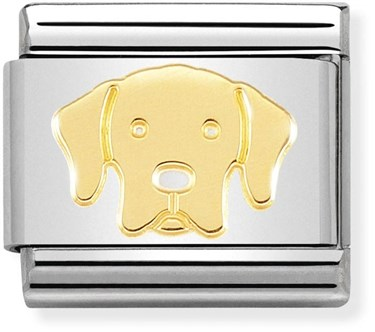 Nomination Gold Labrador Dog Charm  - Click to view larger image