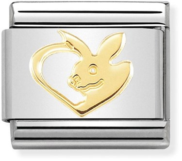 Nomination Gold Rabbit Charm  - Click to view larger image