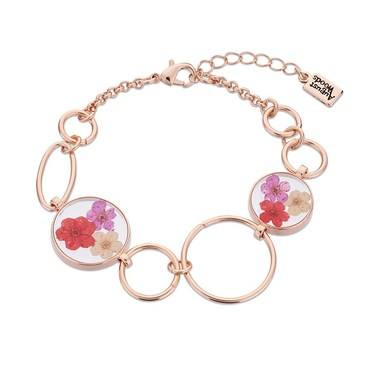 August Woods Rose Gold Hidden Flower Bracelet  - Click to view larger image