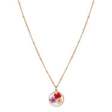 August Woods Rose Gold Hidden Flower Necklace  - Click to view larger image