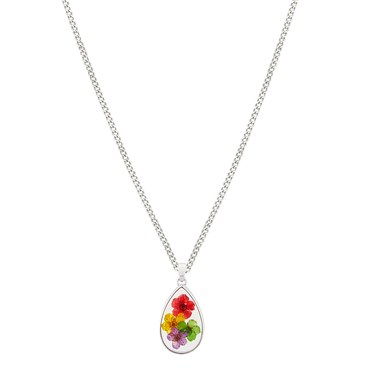 August Woods Silver Hidden Flower Necklace  - Click to view larger image