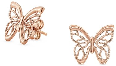 Nomination Rose Gold Primavera Butterfly Earrings  - Click to view larger image