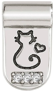 Nomination Silver SeiMia Cat Charm   - Click to view larger image