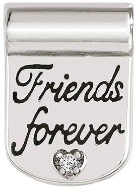 Nomination Silver SeiMia Forever Friends Charm   - Click to view larger image