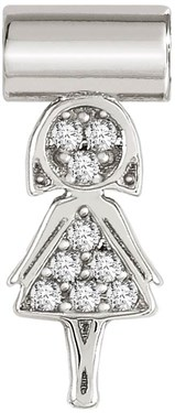 Nomination Silver SeiMia Mum Charm   - Click to view larger image