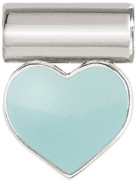 Nomination Silver SeiMia Green Heart Charm   - Click to view larger image