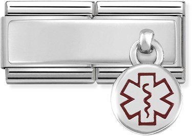 Nomination Medical Tag Double Engravable Charm   - Click to view larger image