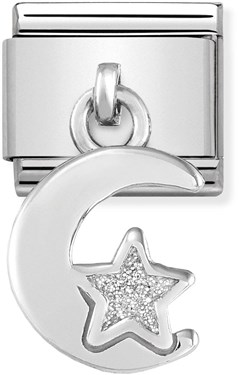 Nomination Moon & Star Hanging Charm   - Click to view larger image