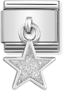 Nomination Glitter Star Hanging Charm   - Click to view larger image