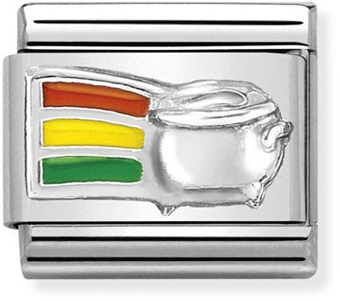 Nomination Rainbow Pot Of Gold Charm   - Click to view larger image