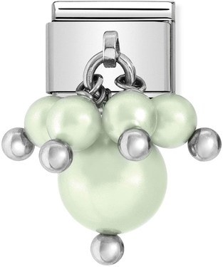 Nomination Pastel Green Pearl Charm   - Click to view larger image