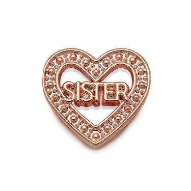 Karma Rose Gold Sister Heart Charm   - Click to view larger image