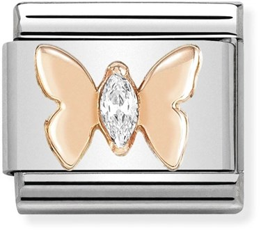 Nomination Rose Gold Butterfly Charm   - Click to view larger image
