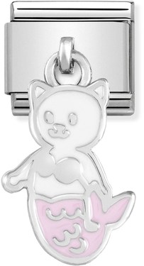 Nomination Mermaid Cat Hanging Charm   - Click to view larger image