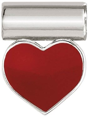 Nomination Silver SeiMia Red Heart Charm   - Click to view larger image