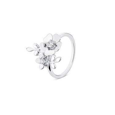 Argento Silver Cluster Flower Ring  - Click to view larger image