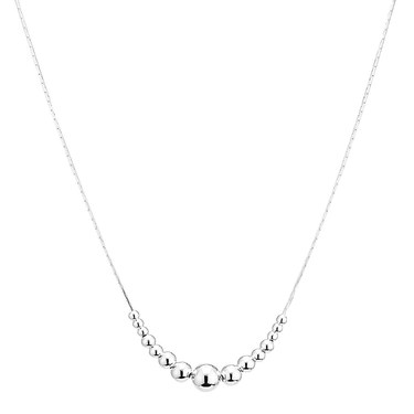 Argento Silver Staggered Ball Necklace  - Click to view larger image