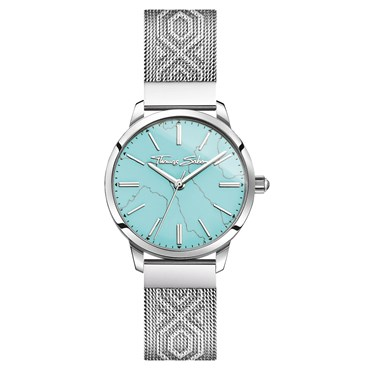 Thomas Sabo Turquoise Textured Strap Watch  - Click to view larger image