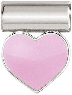 Nomination Silver SeiMia Pink Heart Charm   - Click to view larger image