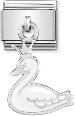 Nomination Swan Princess Hanging Charm   - Click to view larger image