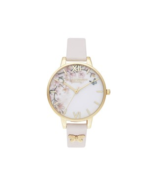 Olivia Burton Blossom Embossed Butterfly Watch  - Click to view larger image