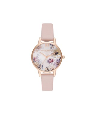 Olivia Burton Sunlight Floral Pink + Rose Gold Watch  - Click to view larger image