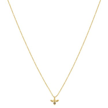 Argento Gold Honeycomb Bee Necklace  - Click to view larger image