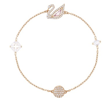 Swarovski Dazzling Swan Rose Gold Bracelet  - Click to view larger image