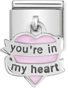 Nomination You're In My Heart Hanging Charm   - Click to view larger image