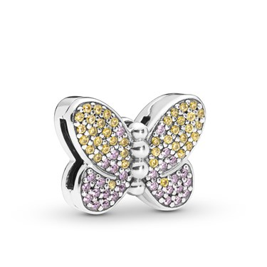 Pandora Reflexions Bedazzling Butterfly Clip Charm  - Click to view larger image
